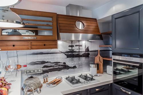 Морские мотивы в дизайне кухни!