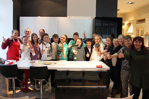 Урок кулинарного мастерства для лицеистов!