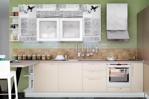 Фотопечать на фасадах: яркая весна на вашей кухне!