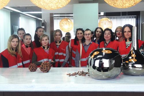 Студенты ИРБиС СГТУ побывали с экскурсией на фабрике «Мария»