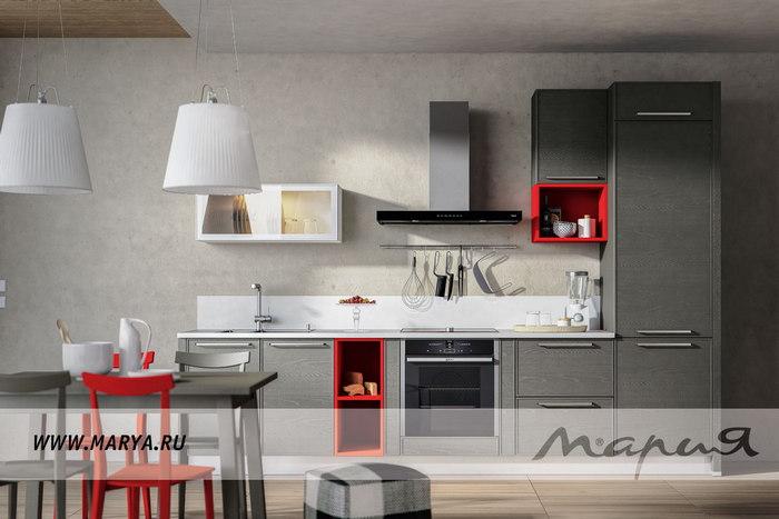 Дизайн кухни 2016: серый цвет