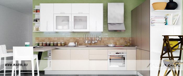 Фото: дизайн кухни 2016 – открытые полки и стеллажи