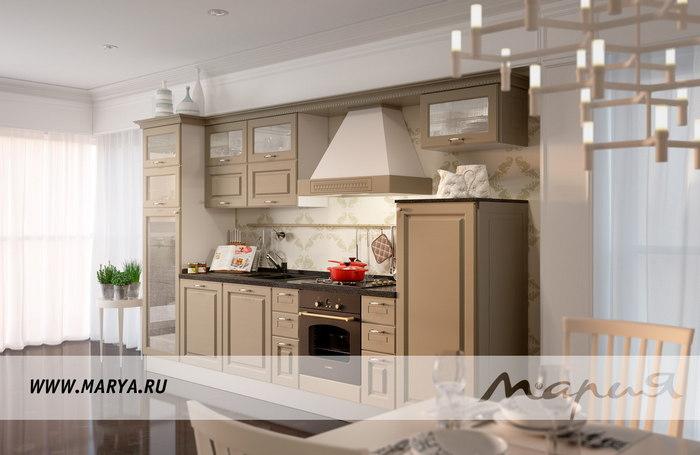 Фото: дизайн кухни с обращением к естественной палитре