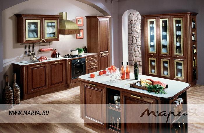 Фото: дизайн кухни 2016 – каштановый цвет