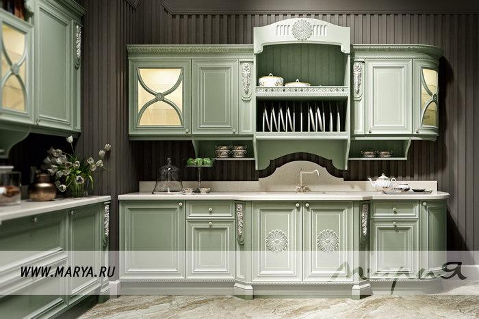 Фото: дизайн кухни в нескольких оттенках одного цвета